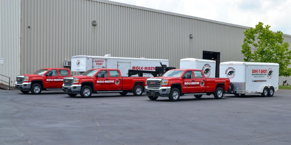 Fleet graphics for pickup trucks and trailer