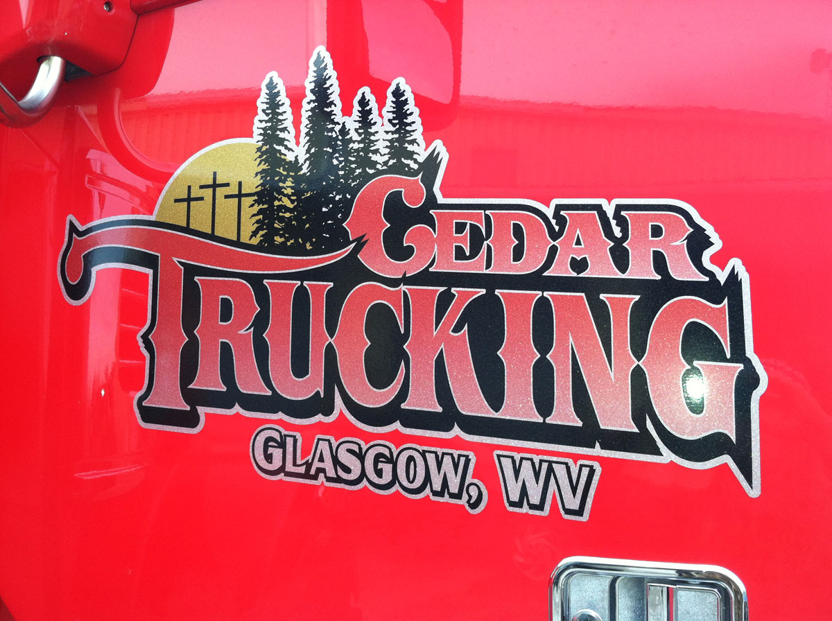 Logo Sticker on truck