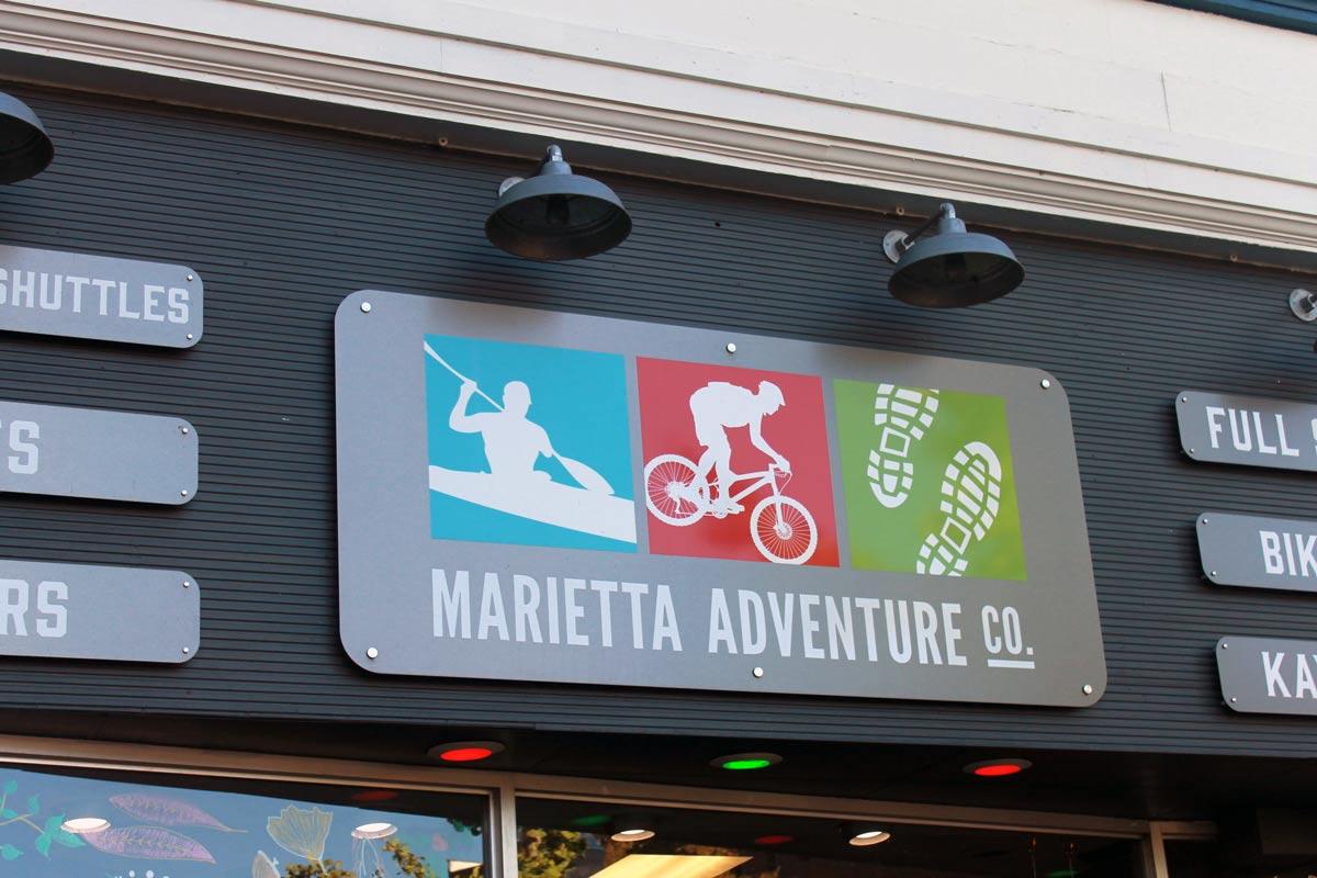 Marietta Adventure Co Aluminum sign