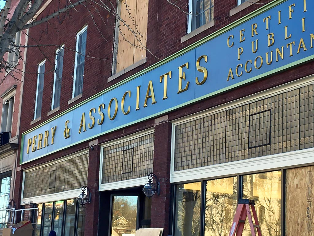 Perry and Associates 3d Sign