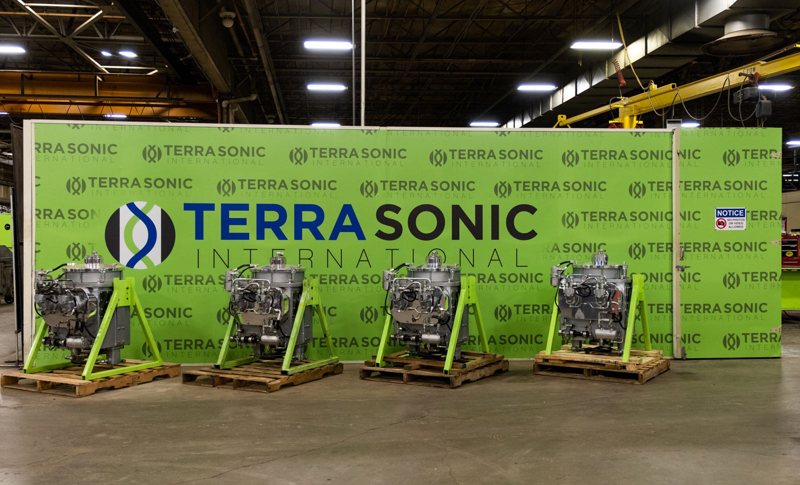 Terra Sonic Wall Wrap for shop display